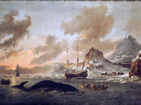 Walvisvangst_bij_de_kust_van_Spitsbergen_-_Dutch_whalers_near_Spitsbergen_(Abraham_Storck,_1690)